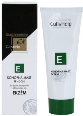 CutisHelp Health Care E - Ekzém konopná noční mast při projevech ekzému na obličej a tělo 1