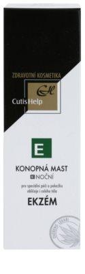 CutisHelp Health Care E - Ekzém konopná noční mast při projevech ekzému na obličej a tělo 2