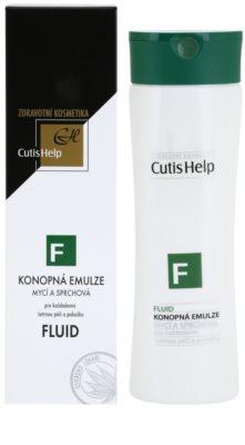CutisHelp Health Care F - Fluid gel de dus cu extract de canepa pentru utilizarea de zi cu zi 1