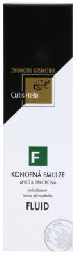 CutisHelp Health Care F - Fluid gel de dus cu extract de canepa pentru utilizarea de zi cu zi 2