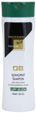 CutisHelp Health Care P.E. - Dandruff - Eczema Shampoo mit Hanf beim Auftreten von Ekzemen und Schuppen