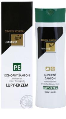 CutisHelp Health Care P.E - Lupy- Ekzém konopný šampon při projevech ekzému a proti lupům 1
