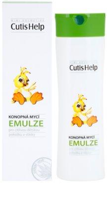 CutisHelp Mimi lotiune pentru curatare cu extract de canepa pentru nou-nascuti si copii 1