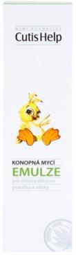 CutisHelp Mimi lotiune pentru curatare cu extract de canepa pentru nou-nascuti si copii 2