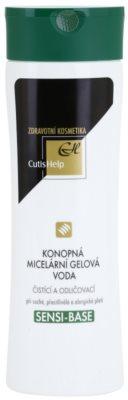CutisHelp Health Care Sensi-Base mizellares Gel-Wasser mit Hanf für empfindliche und allergische Haut