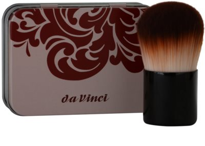 da Vinci Kabuki čopič za mineralni puder v prahu + kovinska škatla