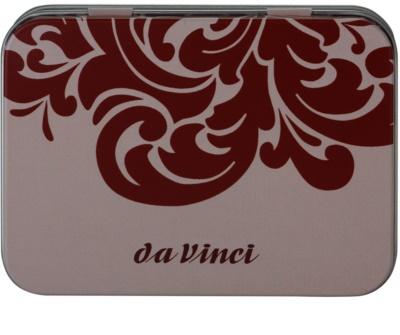 da Vinci Kabuki pędzel do sypkiego pudru mineralnego + metalowe pudełko 2