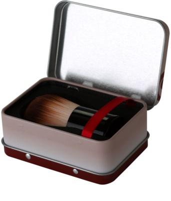 da Vinci Kabuki pędzel do sypkiego pudru mineralnego + metalowe pudełko 3