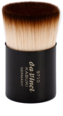 da Vinci Kabuki štětec na make-up a pudr + kovové pouzdro 1