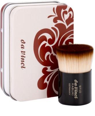 da Vinci Kabuki perie pentru pudra sau machiaj + cutie metalica