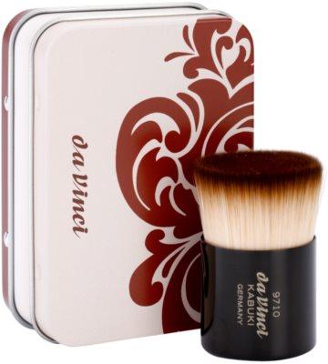da Vinci Kabuki štětec na make-up a pudr + kovové pouzdro