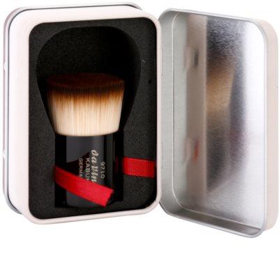 da Vinci Kabuki štětec na make-up a pudr + kovové pouzdro 2