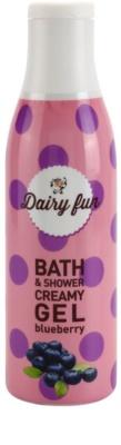Dairy Fun Blueberry cremiges Duschgel und Gel zum Baden