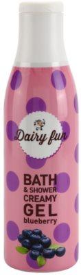 Dairy Fun Blueberry krémový sprchový gél a gél do kúpeľa