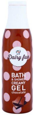 Dairy Fun Chocolate krémový sprchový gel a gel do koupele