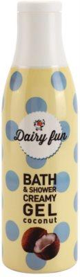 Dairy Fun Coconut cremiges Duschgel und Gel zum Baden