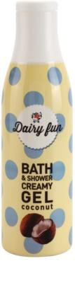 Dairy Fun Coconut krémový sprchový gel a gel do koupele