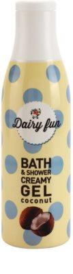 Dairy Fun Coconut krémový sprchový gél a gél do kúpeľa