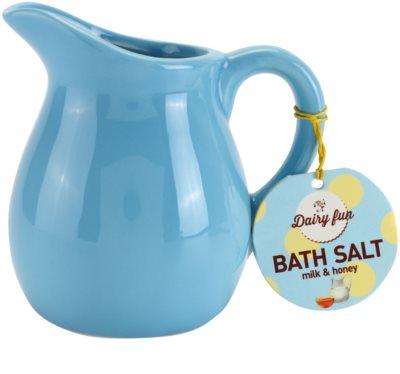 Dairy Fun Milk & Honey soľ do kúpeľa v džbánku