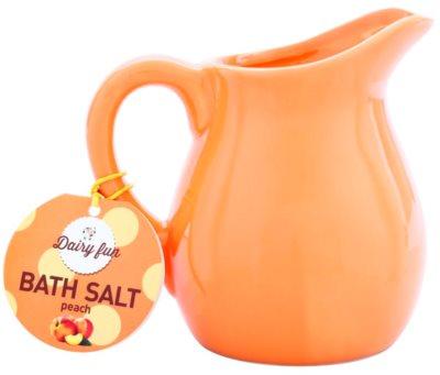 Dairy Fun Peach sal de banho em jarro