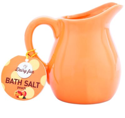 Dairy Fun Peach sare de baie într-un vas