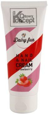 Dairy Fun Strawberry crema hidratante para manos y uñas