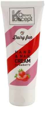 Dairy Fun Strawberry hydratační krém na ruce a nehty