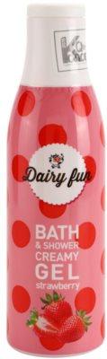 Dairy Fun Strawberry gel de ducha y baño cremoso
