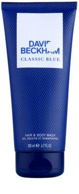 David Beckham Classic Blue gel de duche para homens