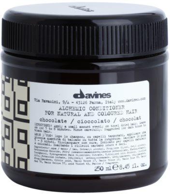 Davines Alchemic Chocolate feuchtigkeitsspendender Conditioner für eine leuchtendere Haarfarbe