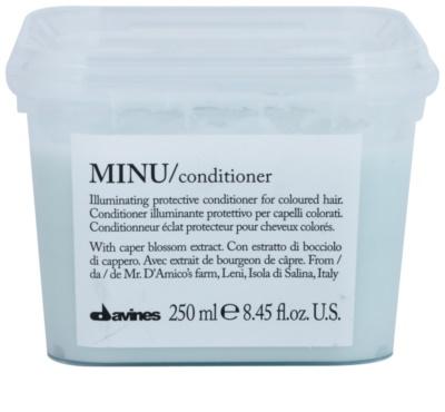 Davines Minu Caper Blossom condicionador de proteção para cabelo pintado