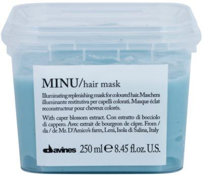 Davines Minu Caper Blossom erneuernde Maske für gefärbtes Haar