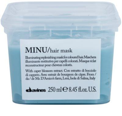 Davines Minu Caper Blossom máscara renovadora para cabelo pintado