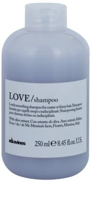 Davines Love Olive glättendes Shampoo für unnachgiebige und strapaziertes Haar