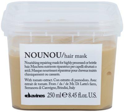 Davines NouNou Tomato mascarilla nutritiva para cabello dañado, químicamente tratado