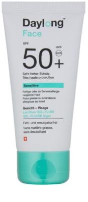 Daylong Sensitive schützendes Gel-Fluid für fettige und empfindliche Haut SPF 50+