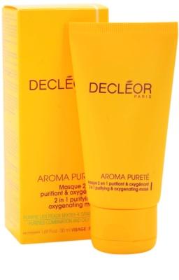 Decléor Aroma Pureté tisztító és oxigenizáló maszk 2 az 1-ben 1