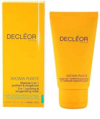 Decléor Aroma Pureté tisztító és oxigenizáló maszk 2 az 1-ben 2