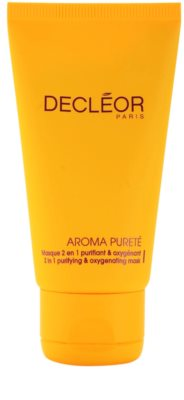 Decléor Aroma Pureté tisztító és oxigenizáló maszk 2 az 1-ben