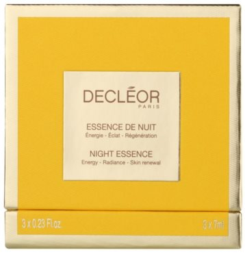 Decléor Night Essence tratamiento intensivo de noche  para reafirmar la piel 2