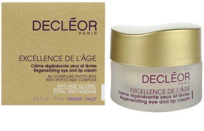 Decléor Excellence de L´Âge Anti-Âge Global przeciwzmarszczkowy krem pod oczy  do skóry dojrzałej 3