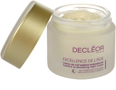 Decléor Excellence de L´Âge Anti-Âge Global crema de noche antiarrugas  para pieles maduras 1