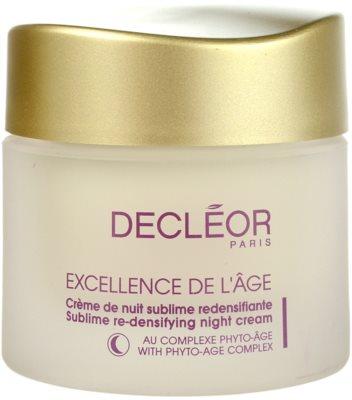 Decléor Excellence de L´Âge Anti-Âge Global crema de noapte pentru contur pentru ten matur