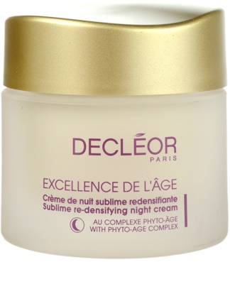 Decléor Excellence de L´Âge Anti-Âge Global crema de noche antiarrugas  para pieles maduras