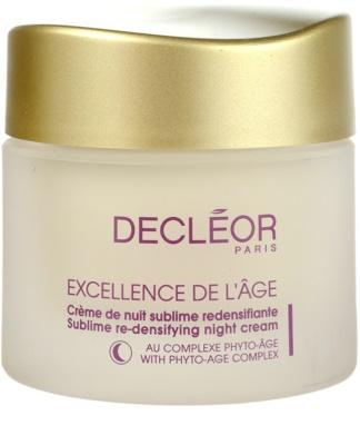 Decléor Excellence de L´Âge Anti-Âge Global Nachtcreme gegen Falten für reife Haut
