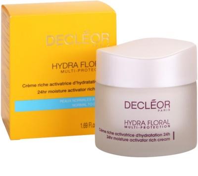 Decléor Hydra Floral bogata vlažilna krema za normalno in suho kožo 2