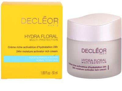 Decléor Hydra Floral bogata vlažilna krema za normalno in suho kožo 3