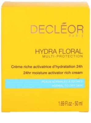Decléor Hydra Floral creme rico hidratante para pele normal e seca 4