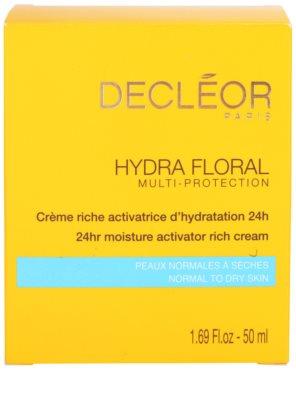 Decléor Hydra Floral bogata vlažilna krema za normalno in suho kožo 4