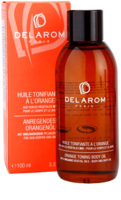 Delarom Body Care aceite de naranja corporal con color 2